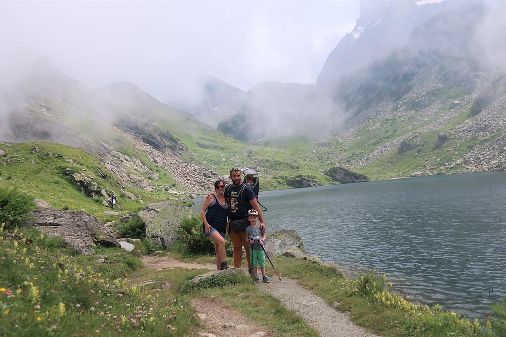 randonnee au mont viso en Italie près de la frontière de la France
