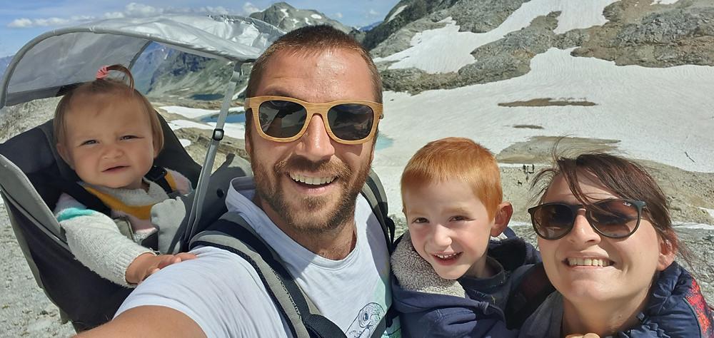 Col de sommelier (2993m d'altidude) italie . vacance en famille