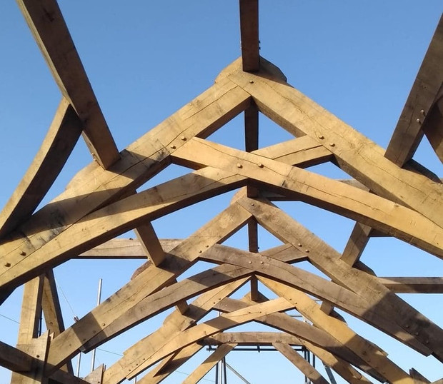 TIMBER FRAME ERECTED AT PERSHORE SITE