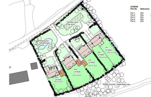 Planning Submitted for New Housing in Howle Hill