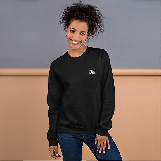 More Amore / Unisex Sweatshirt mit Stick