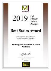 Certificate Best Stairs 2019.jpg