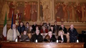 Conferenza stampa sul Progetto Leonardo e sulle donazioni al mosaico