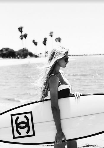 Box Framed Print - Chanel Surf Board