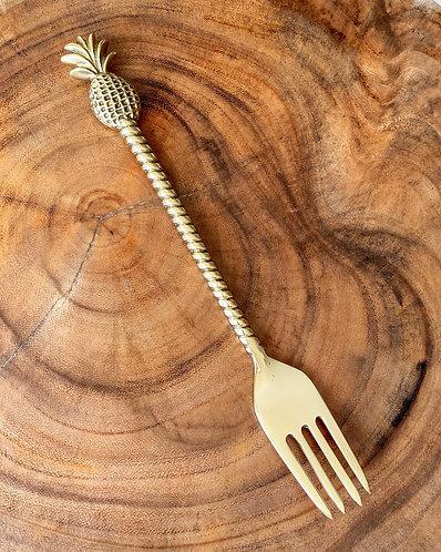 Brass Cutlery Fork - Pineapple