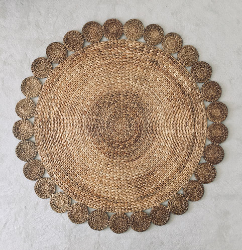 Water Hyacinth Flower Rug