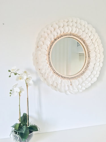 Empress White Seashell Mirror