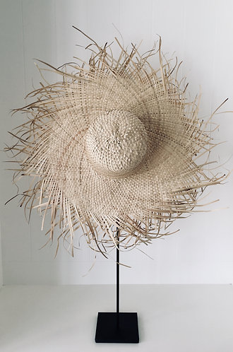 Mykonos Fringed Sun Hat (Natural)