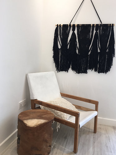 Parisian Black Macrame Wall Hanging