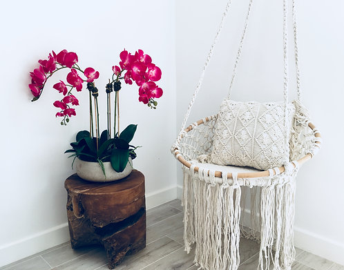 St Barths Macrame Hanging Childrens Love Seat