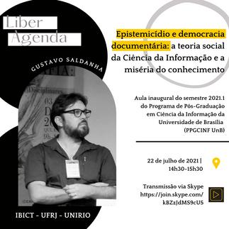 Aula Inaugural 2021.1 - PPGCINF – UnB com Gustavo Saldanha!