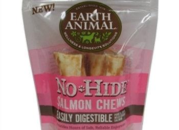 "Earth Animal No Hide Salmon Chews Dog Treats, 4"", 2 Pack"