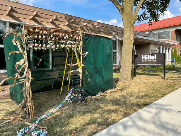 Setting up the Sukkah