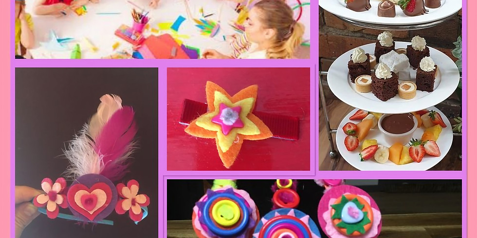 Unique kids & adult crafts with Coco Monde two course High Tea on Darby St.