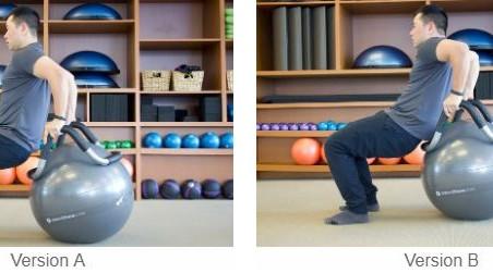 Tricep Dips en el Halo® Trainer con Stability Ball™