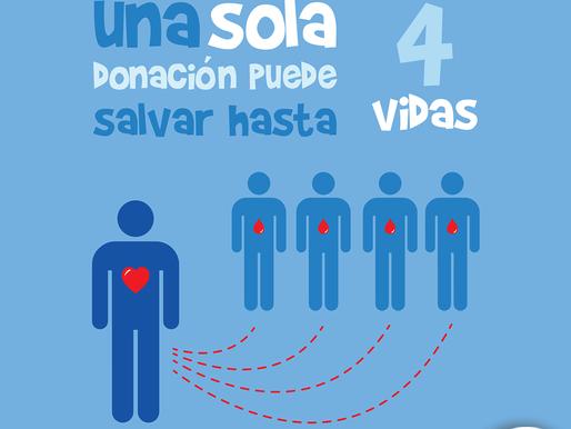 Dona sangre…regala vida y esperanza