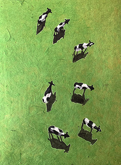 donovan, 7 Dairy Cows on Paper small