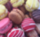 Beautiful macarons in a range of flavours, perfect as wedding favours