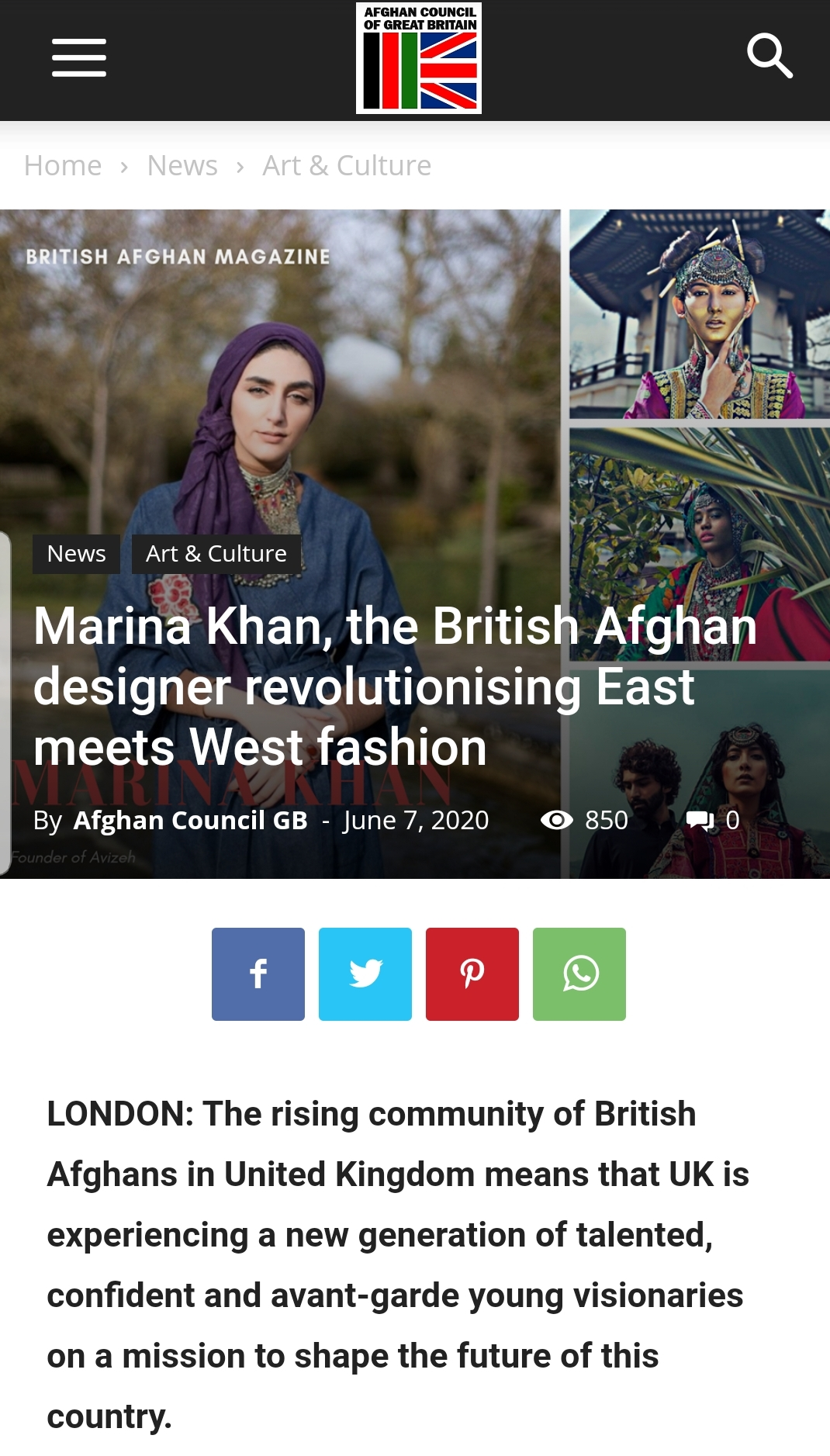 British Afghan Council Magazine