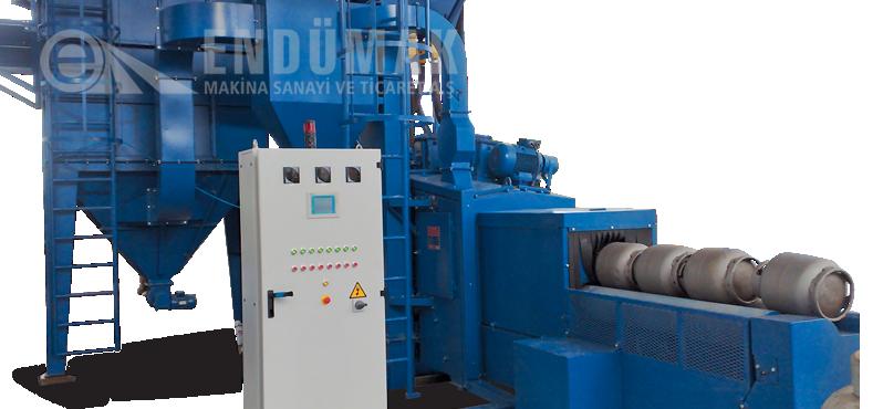 Cylinder Blast Cleaning Machine