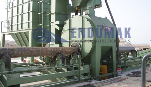 Boru Dışı Kumlama Makinesi