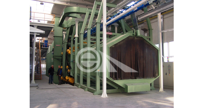 Continuous Hanger Blast Cleaning Machine