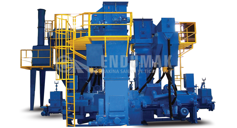 Round, Square, Rectangle Material Blast Cleaning Machine