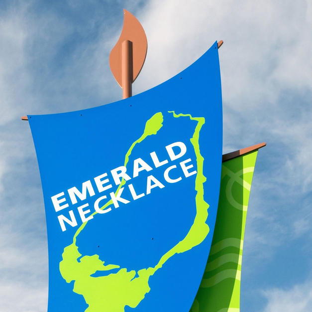 Emerald Necklace Banner Poles