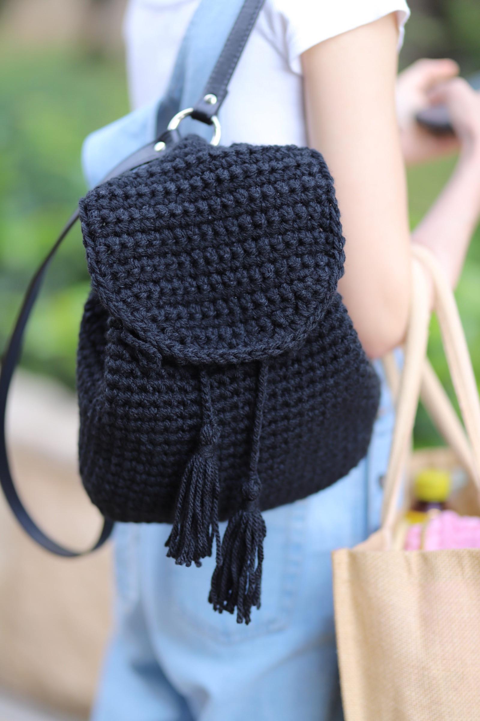 Beginner-Crochet backpack workshop