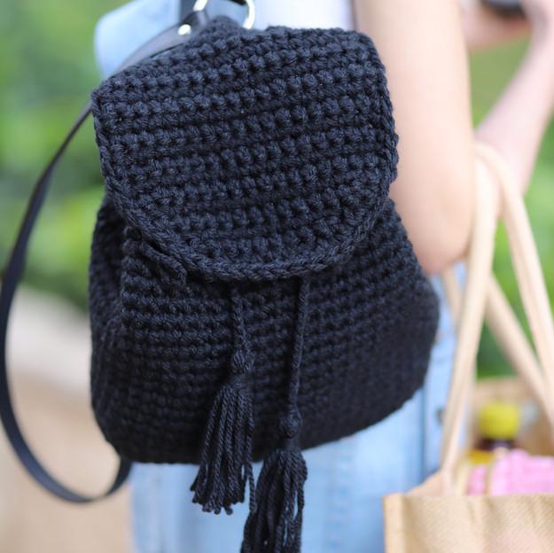 crochet backpack workshop