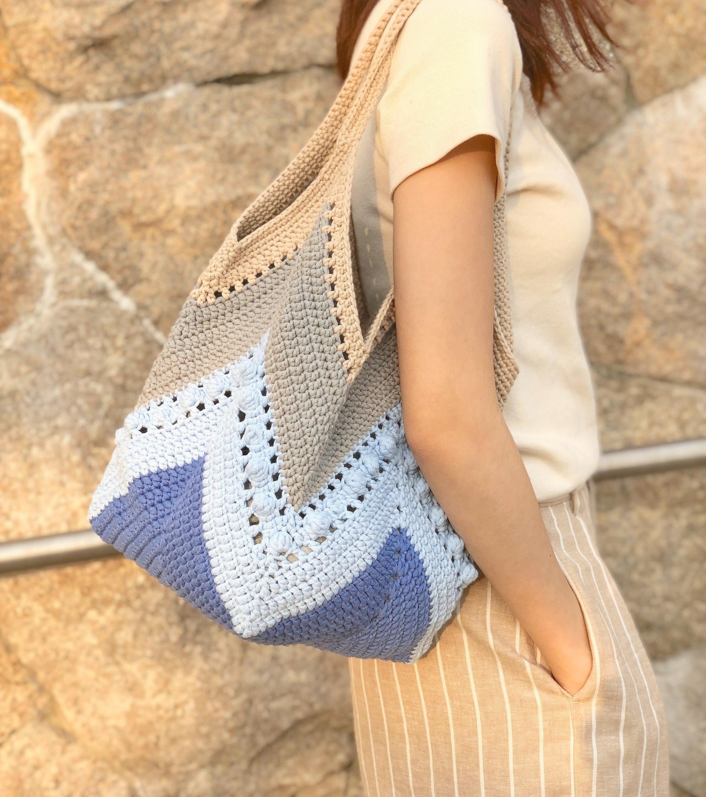 Intermediate- Granny Square Tote Bag