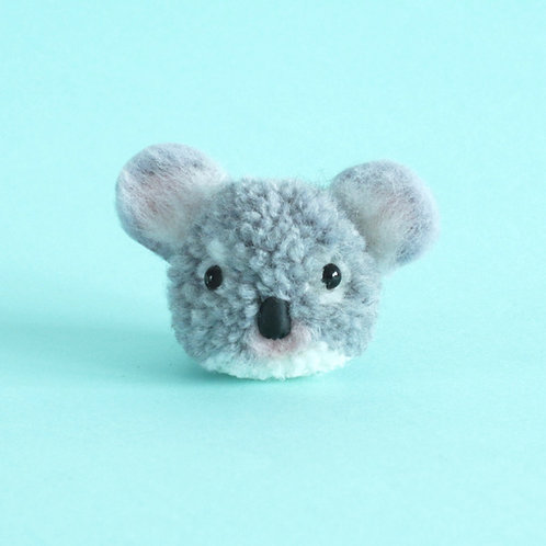 Handmade koala pom pom key chain