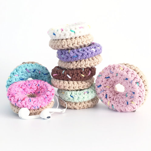 Crochet Donut Earphone Case