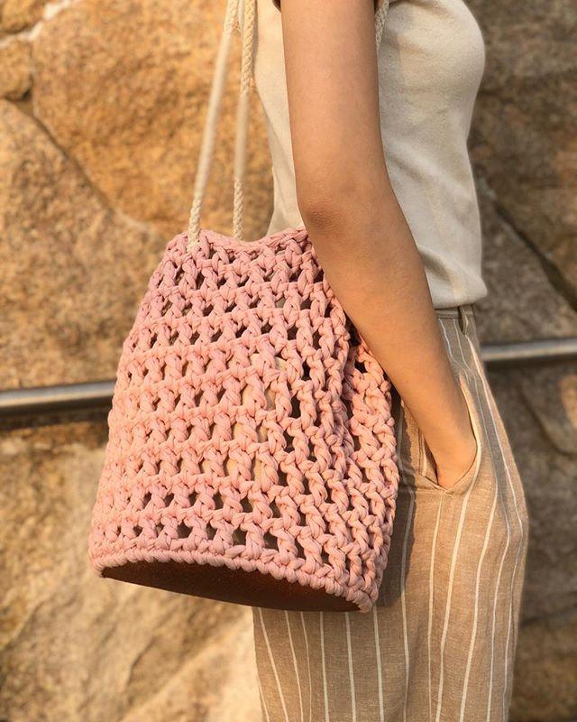 Beginner-Crochet Square Pattern Net Bag