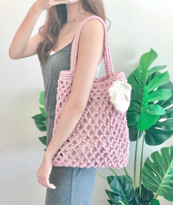 Intermediate-Diamond Net Tote Bag