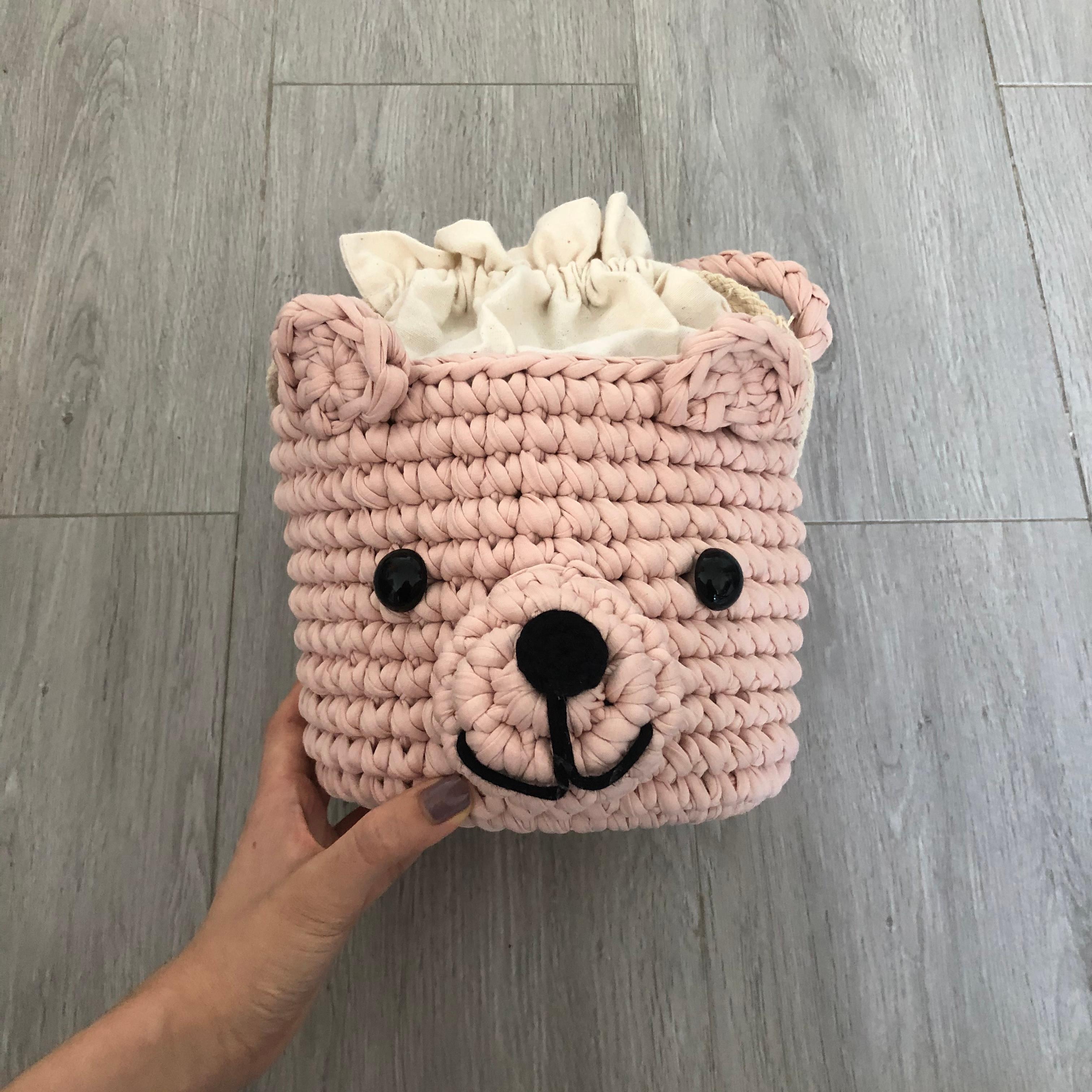 Beginner- Crochet Bear Basket Bag