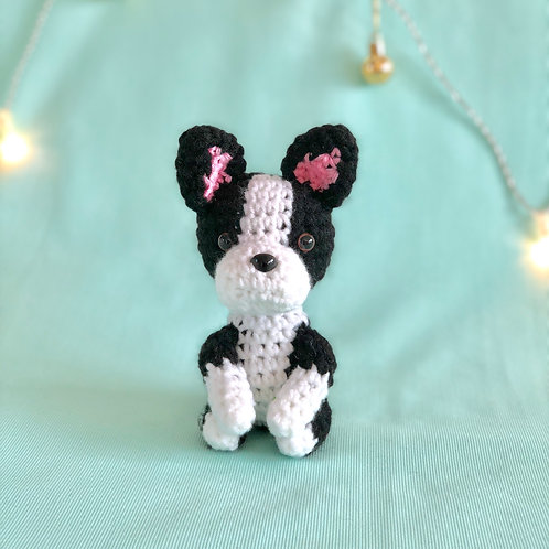 Crochet Boston Terrier Puppy