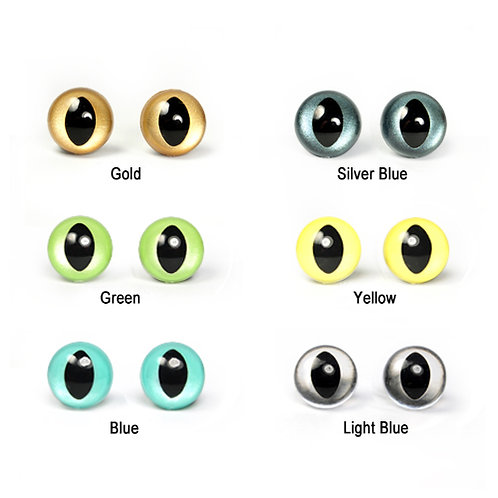 12mm Colored Plastic Cat Eyes for Animal PomPom