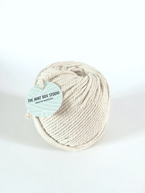 4mm twisted cotton cord for macrame wall hanging