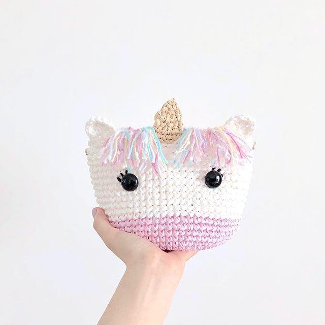 Beginner-crochet unicorn bag (Kid Size)