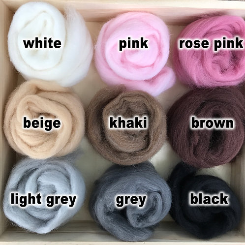 Felting Wool Roving 5g - Animal pompom