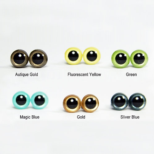 9mm-12mm Colored Plastic Eyes for Animal PomPom