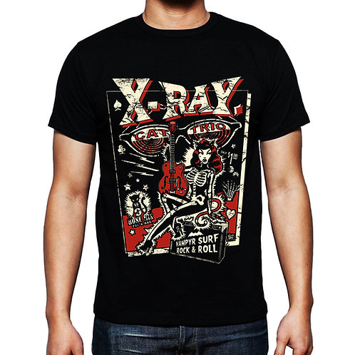 Vince Ray 'X Ray Cat Trio' T-shirt
