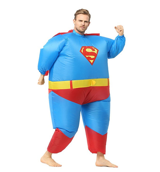 Strój dmuchany superbohater