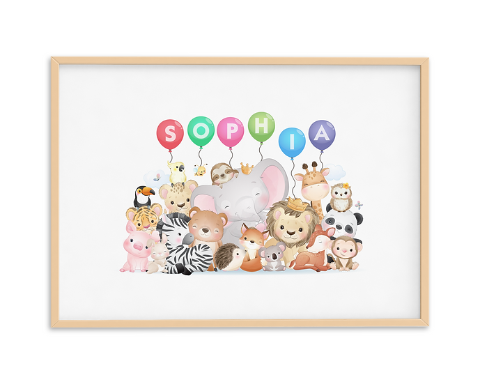 Personalised Name in Balloons Print