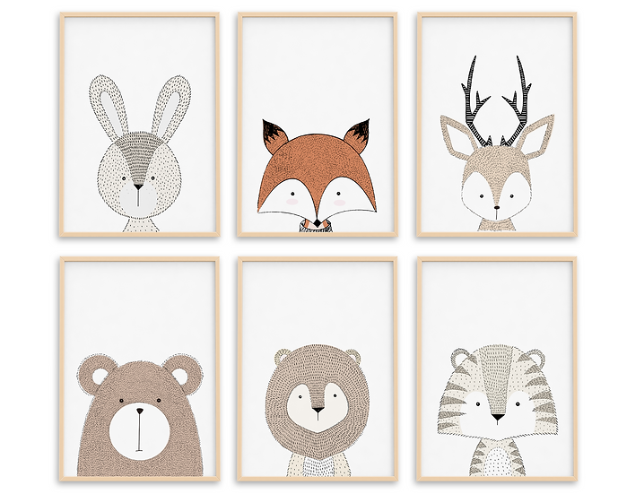 Nursery Animals Print