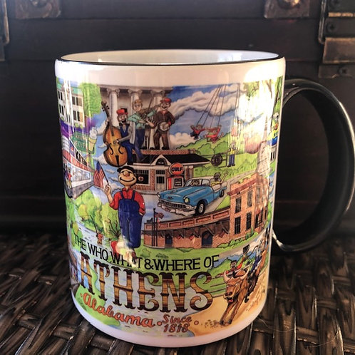 The Who, What & Where of Athens, Alabama 11 oz. coffee mug