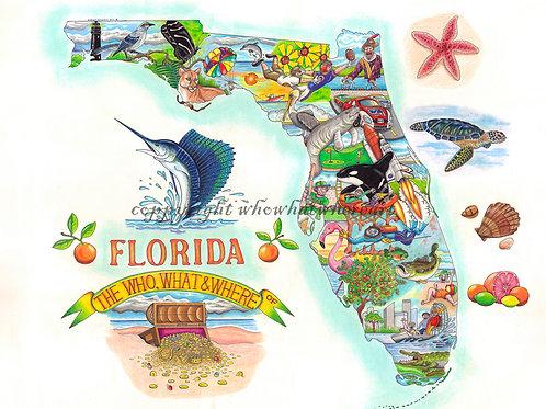 """Florida 12""""x16"""""""