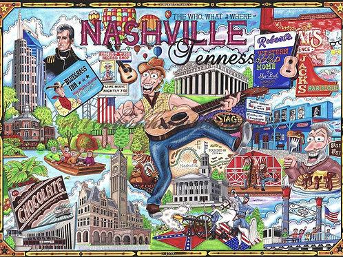 "Nashville 12""x16"""