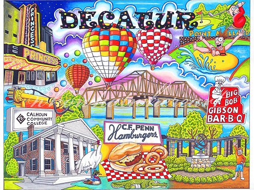 "Decatur, Alabama ""12 x 16"""